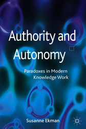 Authority and Autonomy by Susanne Ekman