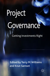 Project Governance by Terry M Williams