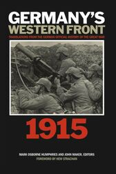 Germany's Western Front: 1915: Translations from the German Official History of the Great War