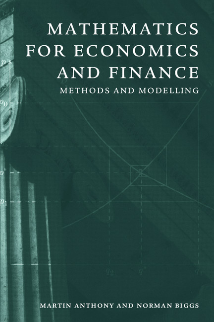 Download Ebook Mathematics for Economics and Finance by Martin Anthony Pdf