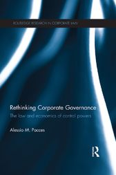 Rethinking Corporate Governance by Alessio Pacces