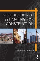 Introduction to Estimating for Construction by Brian Greenhalgh
