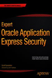 Expert Oracle Application Express Security by Scott Spendolini