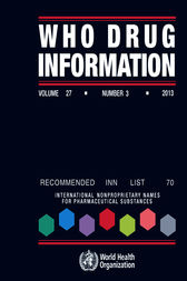 WHO Drug Information  Vol. 27 No. 3  2013 by WHO