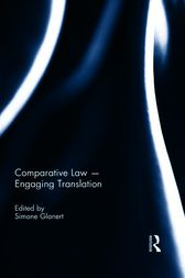 Comparative Law - Engaging Translation by Simone Glanert