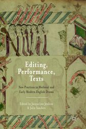 Editing, Performance, Texts by Jacqueline Jenkins