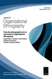 From the Ethnographic Turn to New Forms of Organizational Ethnography by Matthew Brannan