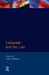 Language and the Law by John Peter Gibbons