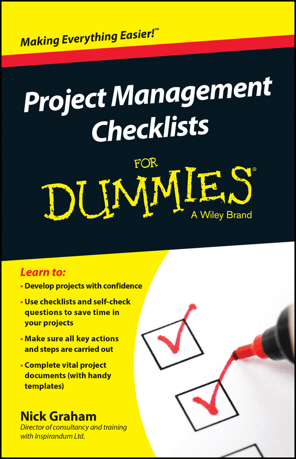 Download Ebook Project Management Checklists For Dummies by Nick Graham Pdf