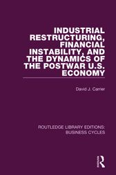 Industrial Restructuring, Financial Instability and the Dynamics of the Postwar US Economy (RLE: Business Cycles) by David J. Carrier