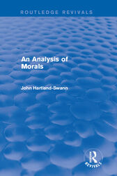 An Analysis of Morals by John Hartland-Swann
