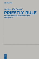 Priestly Rule by Nathan MacDonald