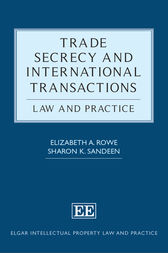 Trade Secrecy and International Transactions by Elizabeth Rowe