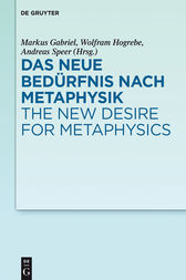 Das neue Bedürfnis nach Metaphysik / The New Desire for Metaphysics by Markus Gabriel