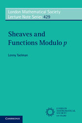 Sheaves and Functions Modulo p by Lenny Taelman
