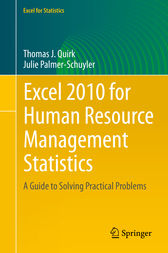 Excel 2010 for Human Resource Management Statistics by Thomas J Quirk