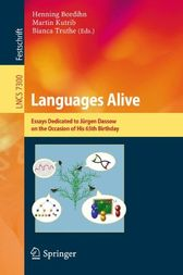 Languages Alive by Henning Bordihn