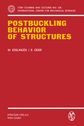 Postbuckling Behavior of Structures by Maria Esslinger