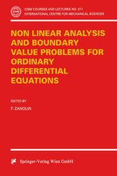 Non Linear Analysis and Boundary Value Problems for Ordinary Differential Equations by F. Zanolin
