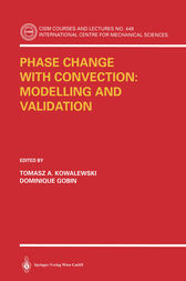 Phase Change with Convection: Modelling and Validation by Tomasz A. Kowalewski