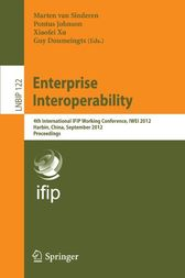 Enterprise Interoperability by Marten van Sinderen