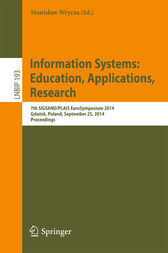 Information Systems: Education, Applications, Research by Stanislaw Wrycza
