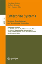 Enterprise Systems. Strategic, Organizational, and Technological Dimensions by Darshana Sedera