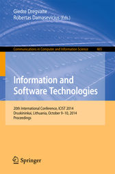 Information and Software Technologies by Giedre Dregvaite