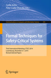 Formal Techniques for Safety-Critical Systems by Cyrille Artho