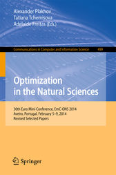 Optimization in the Natural Sciences by Alexander Plakhov