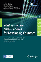 e-Infrastructure and e-Services for Developing Countries by Amos Nungu
