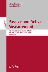 Passive and Active Measurement by Jelena Mirkovic