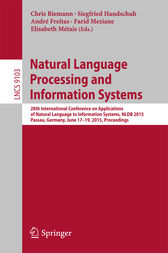Natural Language Processing and Information Systems by Chris Biemann
