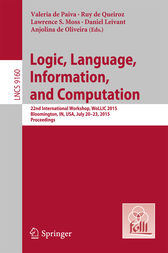 Logic, Language, Information, and Computation by Valeria de Paiva
