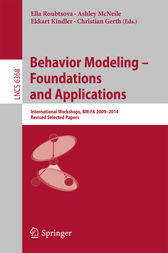Behavior Modeling -- Foundations and Applications by Ella Roubtsova