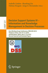 Decision Support Systems IV - Information and Knowledge Management in Decision Processes by Isabelle Linden