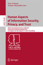 Human Aspects of Information Security, Privacy, and Trust by Theo Tryfonas