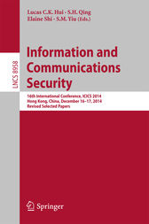 Information and Communications Security by Lucas C. K. Hui