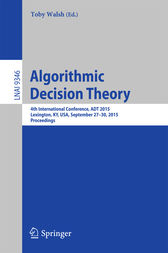 Algorithmic Decision Theory by Toby Walsh