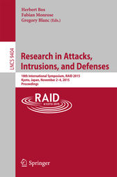 Research in Attacks, Intrusions, and Defenses by Herbert Bos