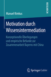 Motivation durch Wissensintermediation by Manuel Rimkus