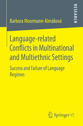 Language-related Conflicts in Multinational and Multiethnic Settings by Barbora Moormann-Kimáková