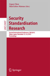 Security Standardisation Research by Liqun Chen