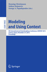 Modeling and Using Context by Henning Christiansen