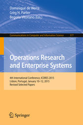 Operations Research and Enterprise Systems by Dominique De Werra