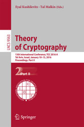 Theory of Cryptography by Eyal Kushilevitz