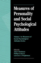 Measures of Personality and Social Psychological Attitudes by John Paul Robinson
