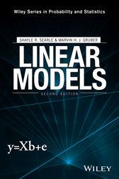 Linear Models by Shayle R. Searle