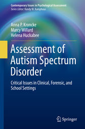 Assessment of Autism Spectrum Disorder by Anna P. Kroncke