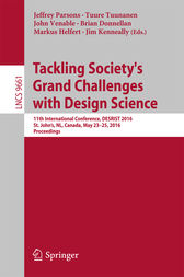 Tackling Society's Grand Challenges with Design Science by Jeffrey Parsons